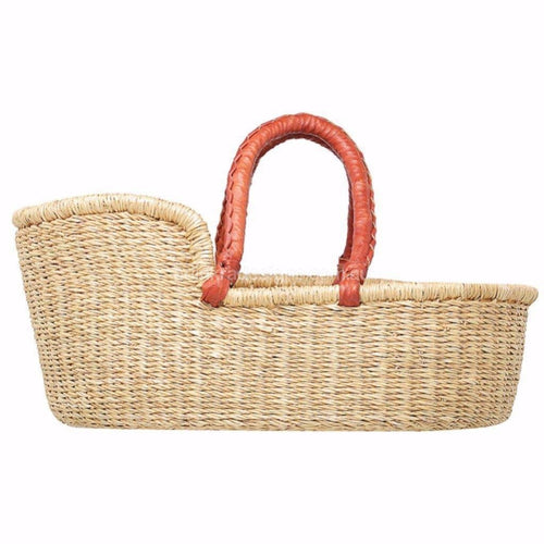 Mini Moses Doll Basket - Natural Handles