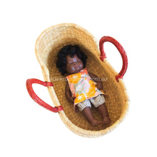 Load image into Gallery viewer, Mini Moses Doll Basket - Natural Handles