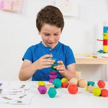 Load image into Gallery viewer, Miniland Aptitude Eco Wooden Towering Beads Set, 30 pcs