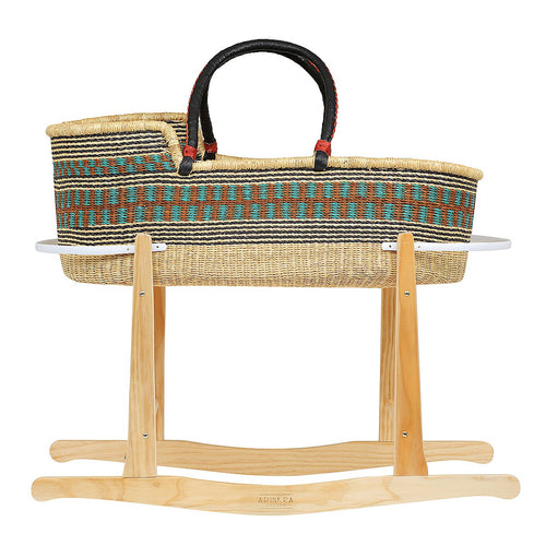 Moses Basket Rocking Stand - Natural