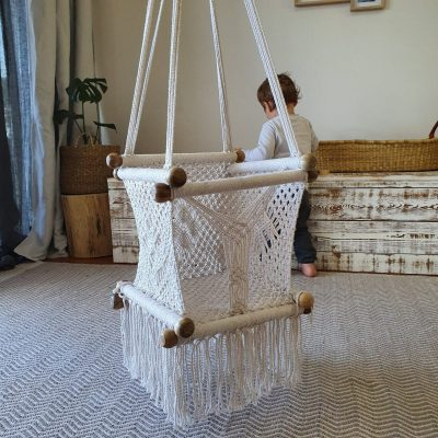 baby macrame swing, baby shower, baby gift, popular baby gift