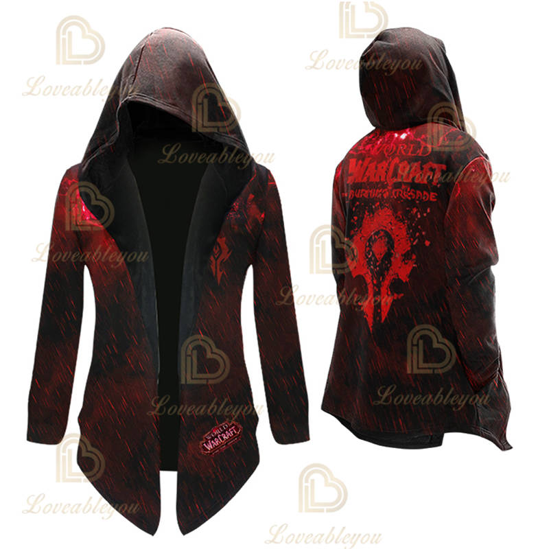 Anime Gaming WOW -  For the Horde Cosplay Overcoat