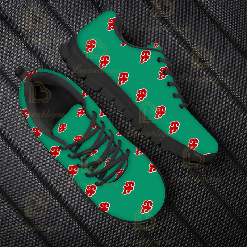 Anime Akatsuki Pattern Summer Spring Shoes Lace Up Mesh Sneaker