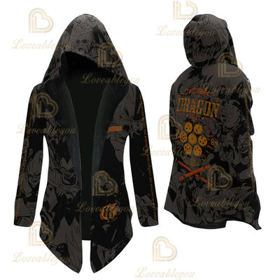 Anime Dragon Goku Cosplay Overcoat