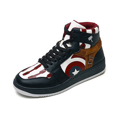 Handmade The First Avenger Captain Ameriica Shoes