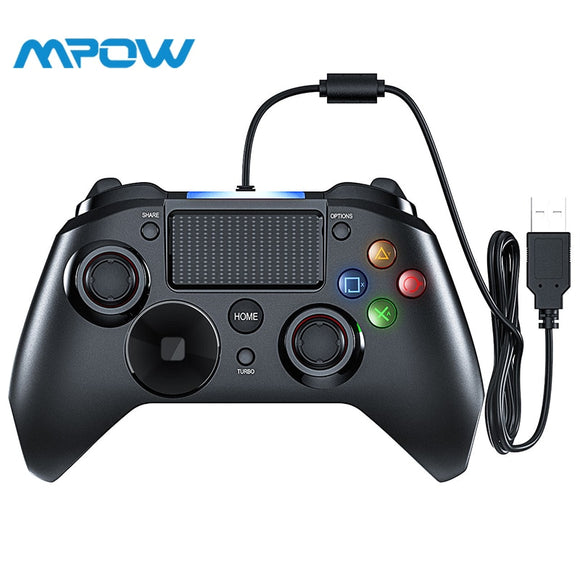 Mpow Wired PS4 (Xbox Layout) Controller W/Touchpad