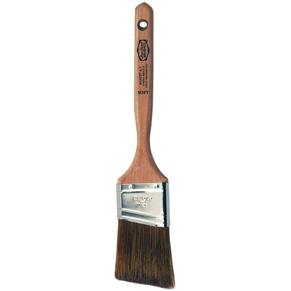 Dunn-Edwards Agate 2 in. Angular Chinese Bristle Brush