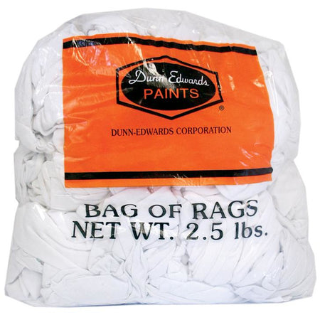 Dunn-Edwards All-Purpose White Rags, 2.5lbs