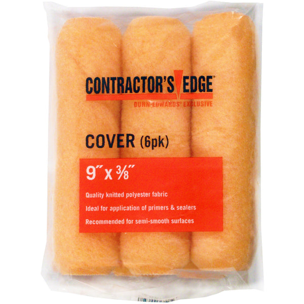 Contractor's Edge 9 in x 3/8 in. Production Polyester Knitted Roller Cover (6-Pack)