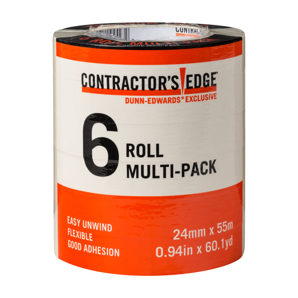 Contractor's Edge .94 in. x 60 yards Masking Tape (6-Pack)