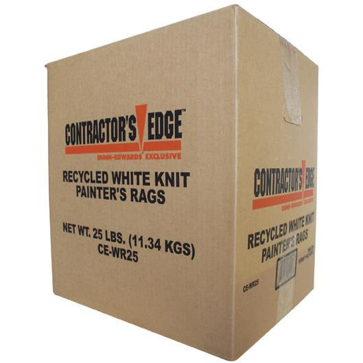 Contractor's Edge All-Purpose White Rags, 25lbs