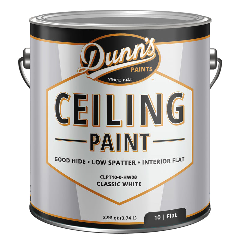 DUNN'S™ Classic White Interior Flat Ceiling Paint, 1 gallon