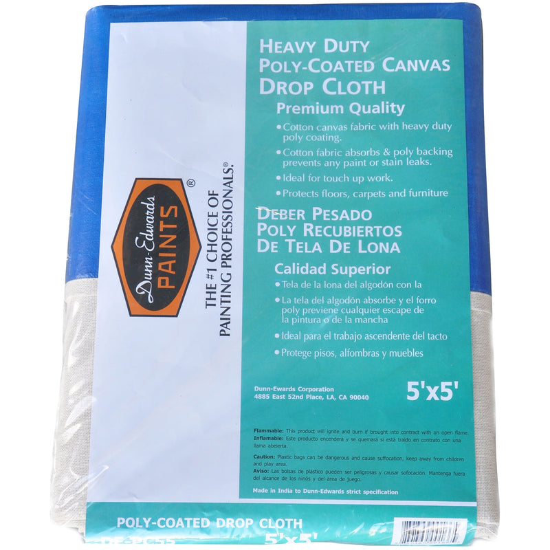 Dunn-Edwards 5 ft. x 5 ft. Poly Coated Drop Cloth
