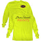 Dunn-Edwards Hi-Visibility Yellow Long Sleeve T-Shirt