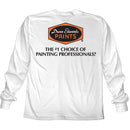 Dunn-Edwards Ace Premium White Long Sleeve T-Shirt