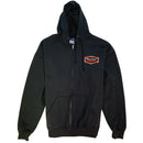 Dunn-Edwards Black Front Zip Hooded Sweatshirt
