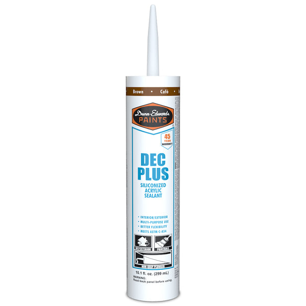 Dunn-Edwards Acrylic Plus Caulk Brown