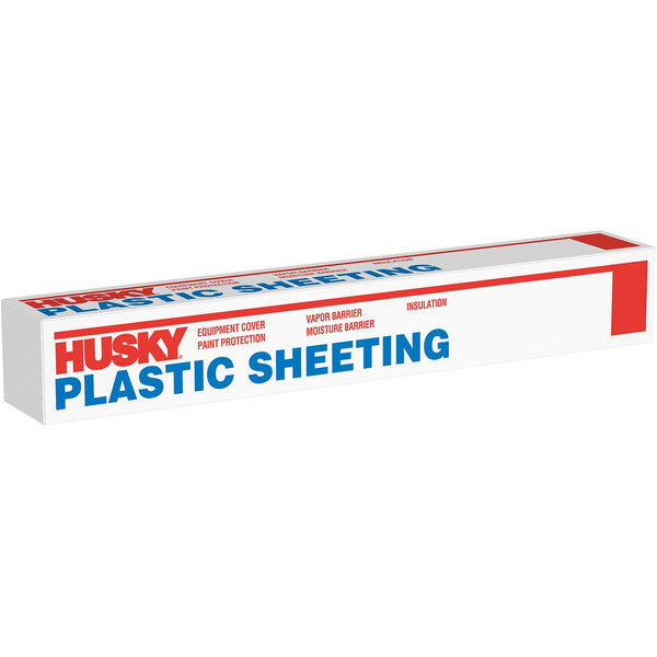 Husky Clear Plastic Sheeting 12 ft. x 400 ft. 0.7 mil