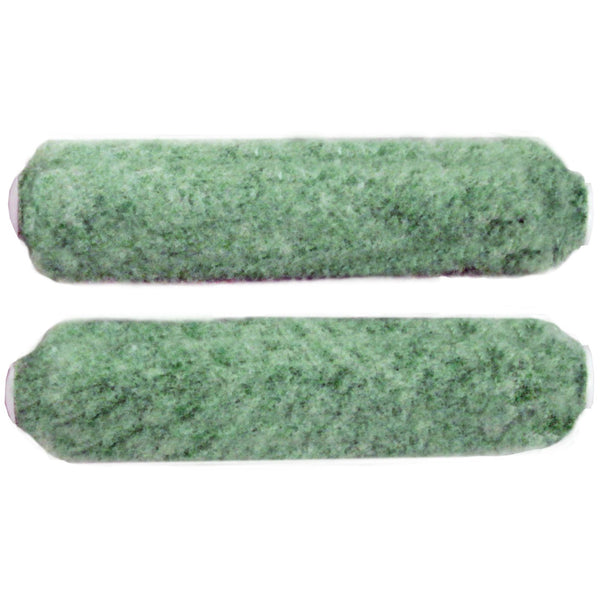 Dunn-Edwards Emerald 6 1/2 in. x 1/2 in. Knitted Polyester, Nylon & Acrylic Blend Mini Roller Cover (2-Pack)