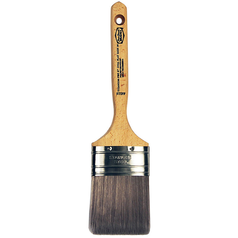 Dunn-Edwards Titanium-Pro Semi-Oval Flat Sash Nylon/Polyester Blend Brush