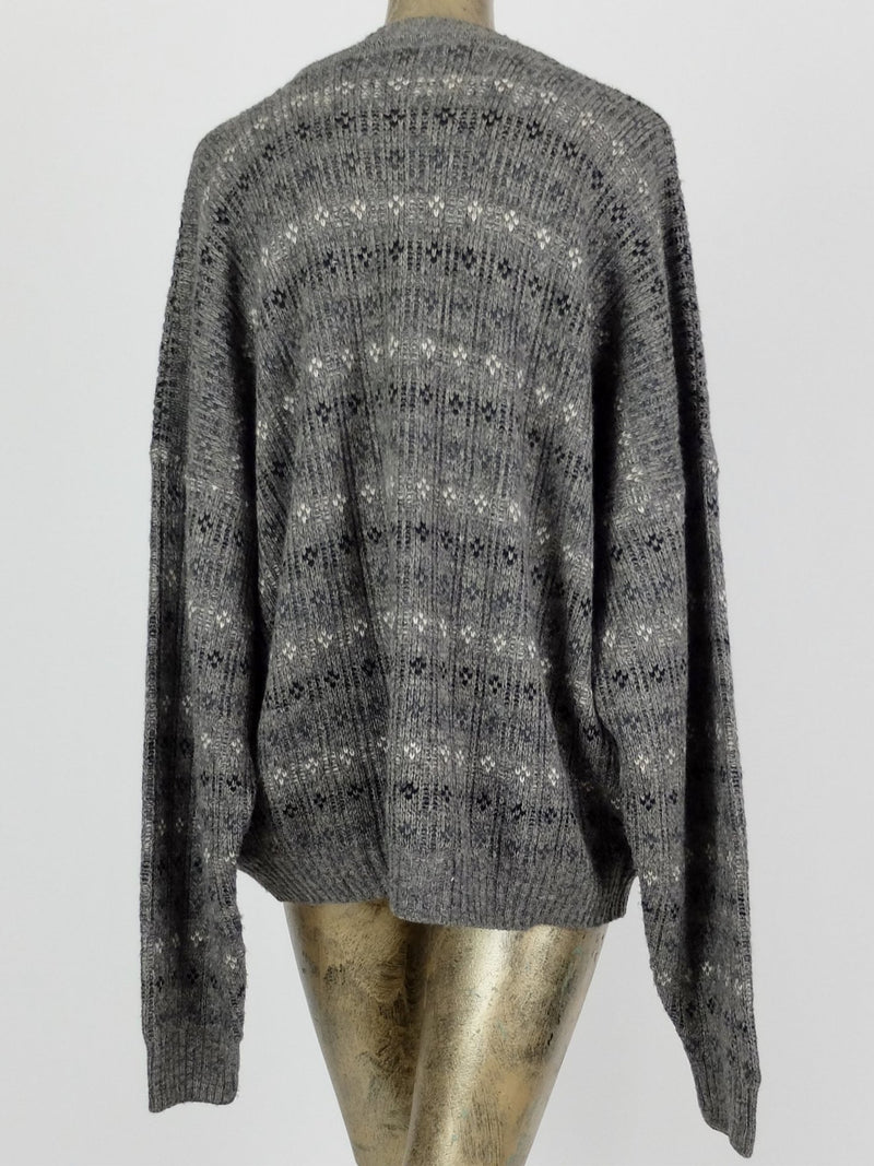 80s Striped Patterned Pullover Sweater Jumper