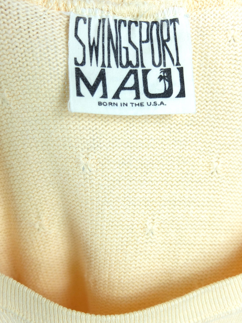 80s Pastel Yellow Thin Knit Pullover Sweater Jumper