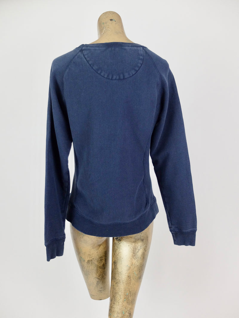 80s Champion Nautical Fire Island Pullover Navy Blue Sweatshirt Jumper