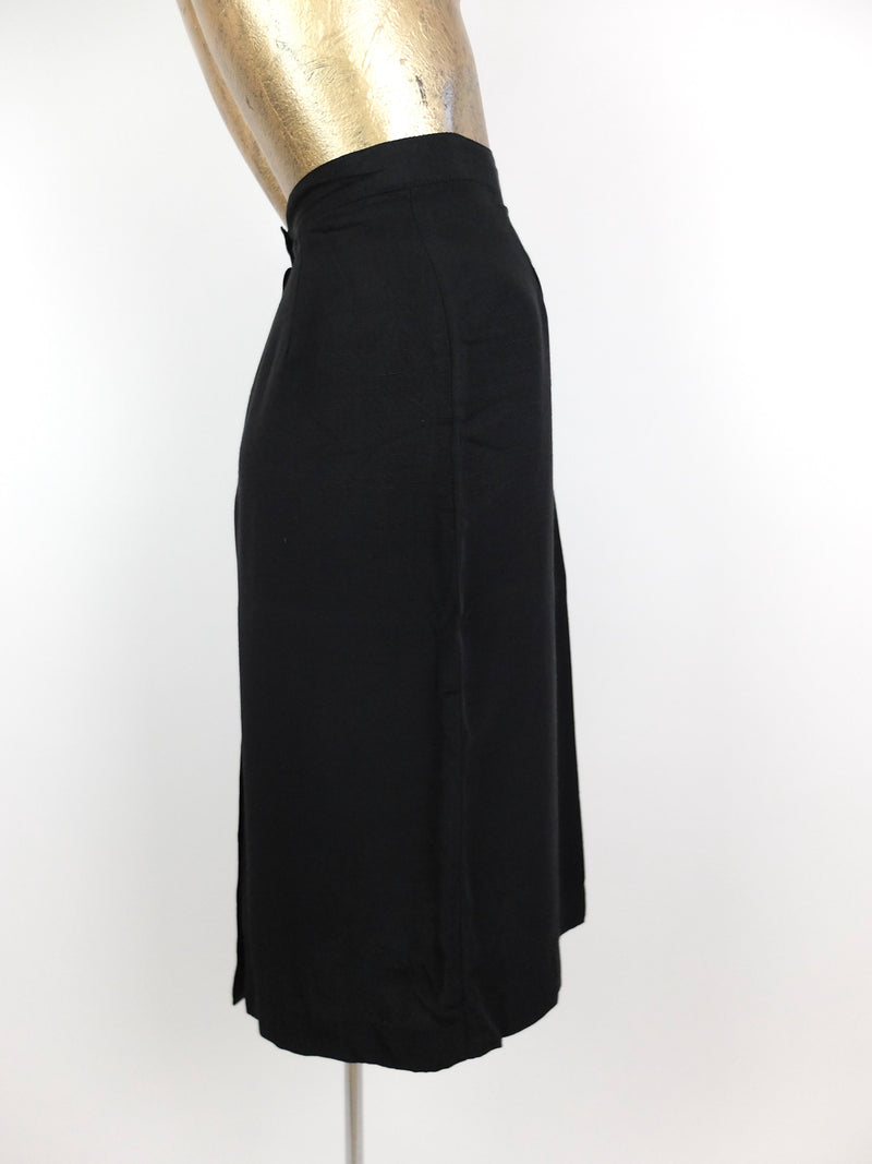 80 Basic Black High Waisted Formal Pencil Skirt