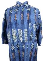 Vintage 80s Mens Silk Abstract Patterned Short Sleeve Button Up Hawaiian Shirt