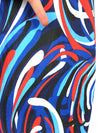 Vintage 90s does 60s Mod Psychedelic Abstract Cap Sleeve Mini Shift Dress