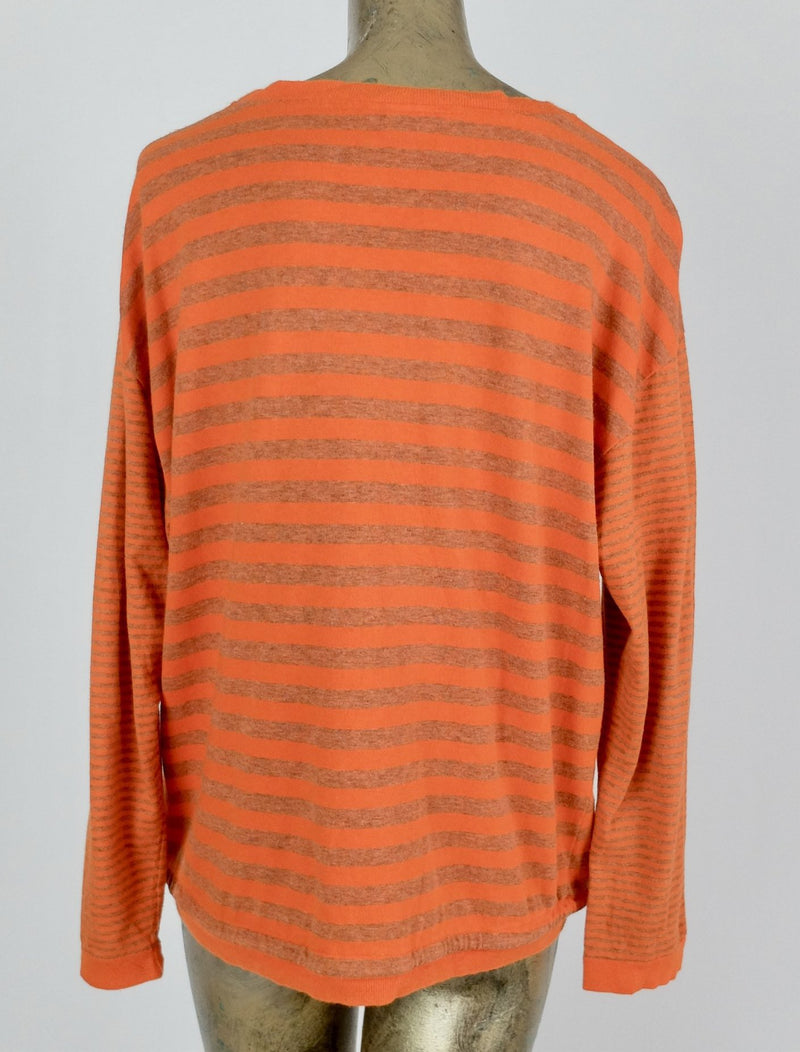 80s Gitano Striped Long Sleeve T-Shirt with Waist Tie