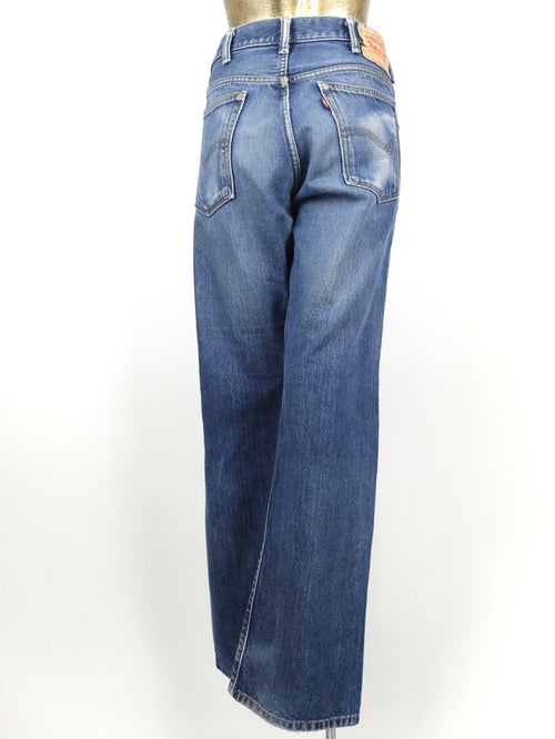 70s Levi's Men's Bootcut Medium Wash Blue Denim Jeans