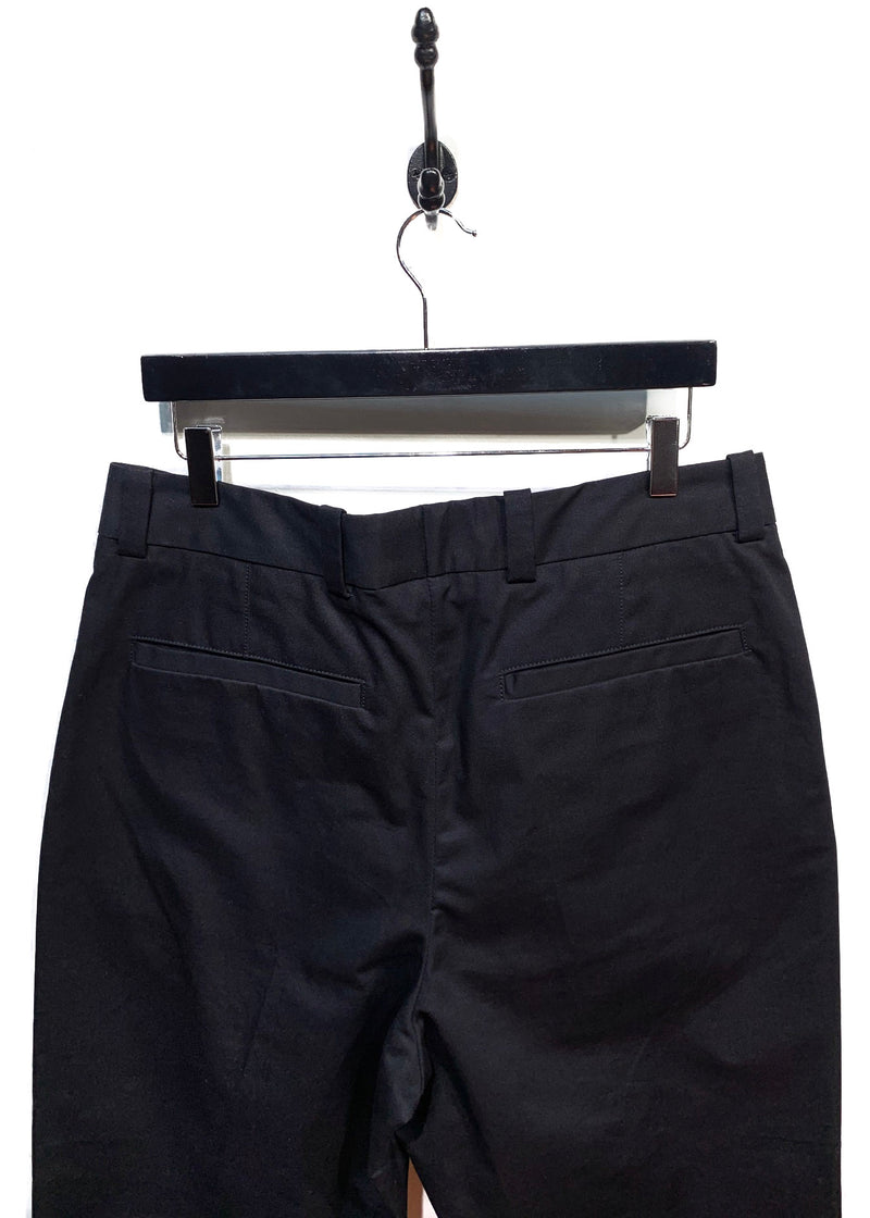 Acne Studios Black Pierre Cropped Pleated Chino Trousers