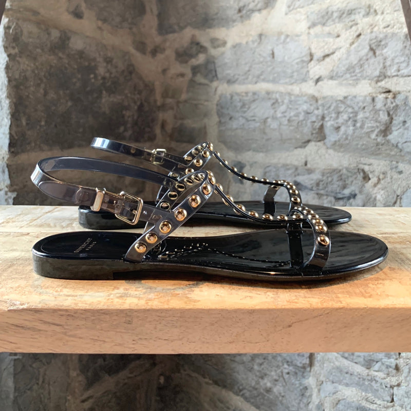 Givenchy Black Transparent Rubber Sandals