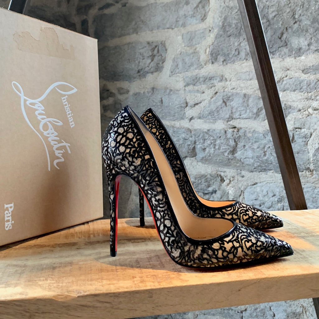 Christian Louboutin So Pretty 120 Patent and Glitter