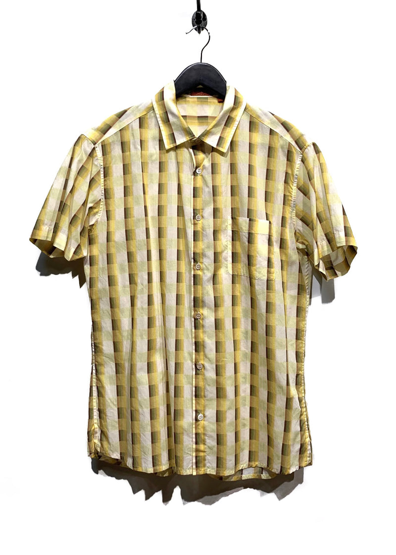 Missoni Yellow Short Sleeves Pocketed Buttoned Shirt