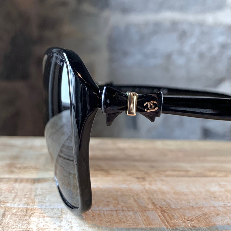 Chanel Black Oversized Bow Sunglasses 5205