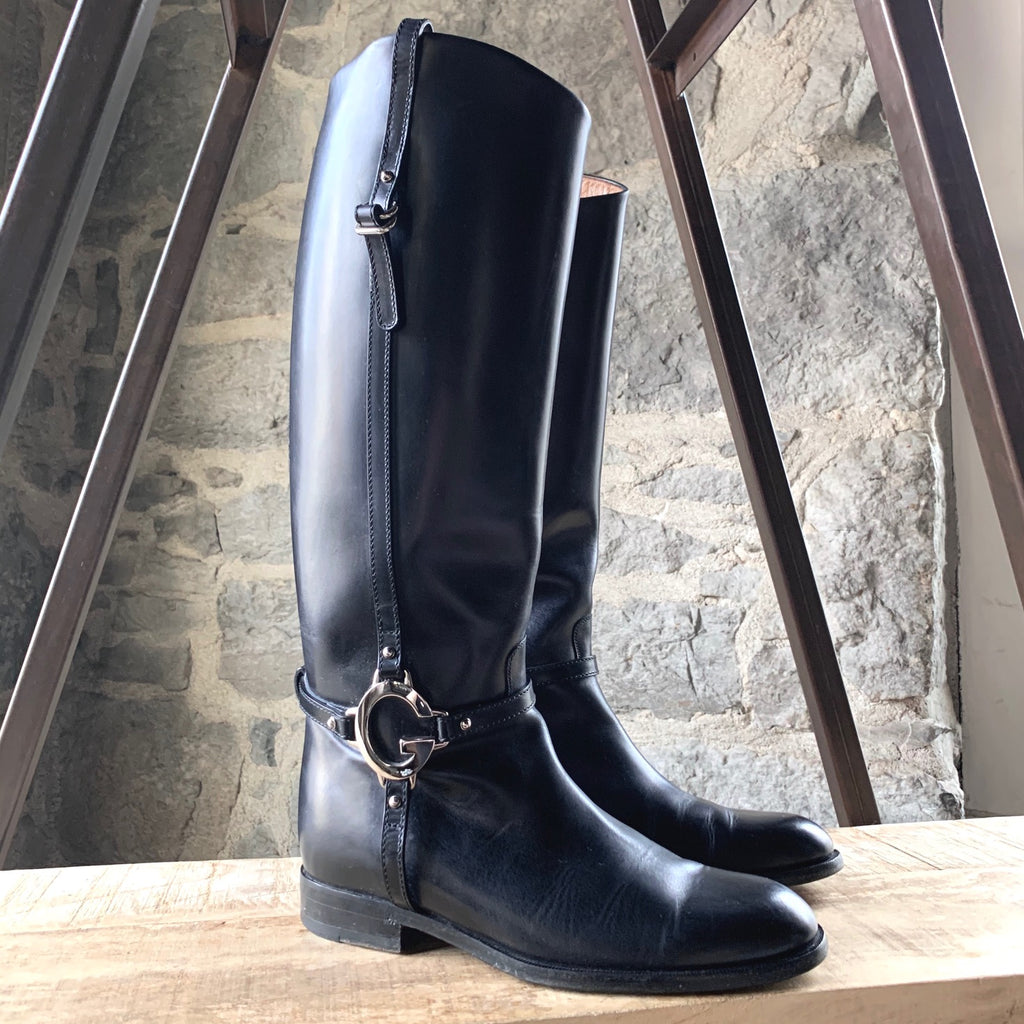 Gucci Black Riding Boots