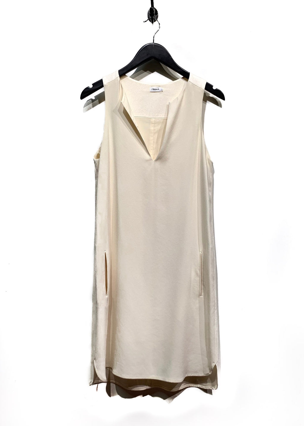 Filippa K Ivory Sleeveless Pocket Dress