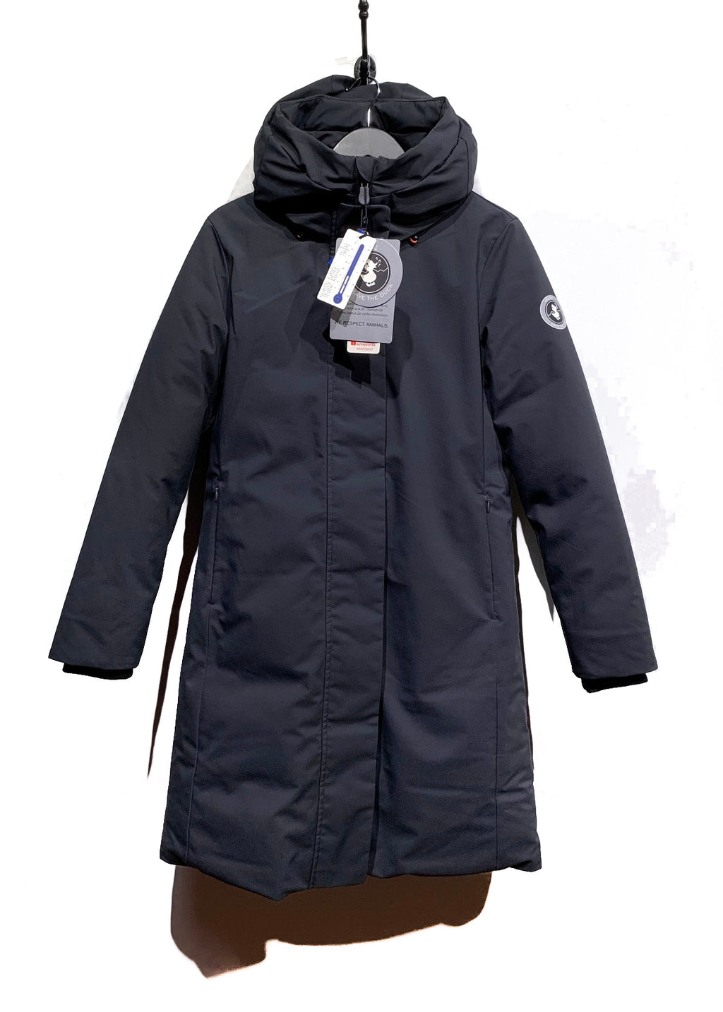 Save The Duck Black Hooded Parka Coat