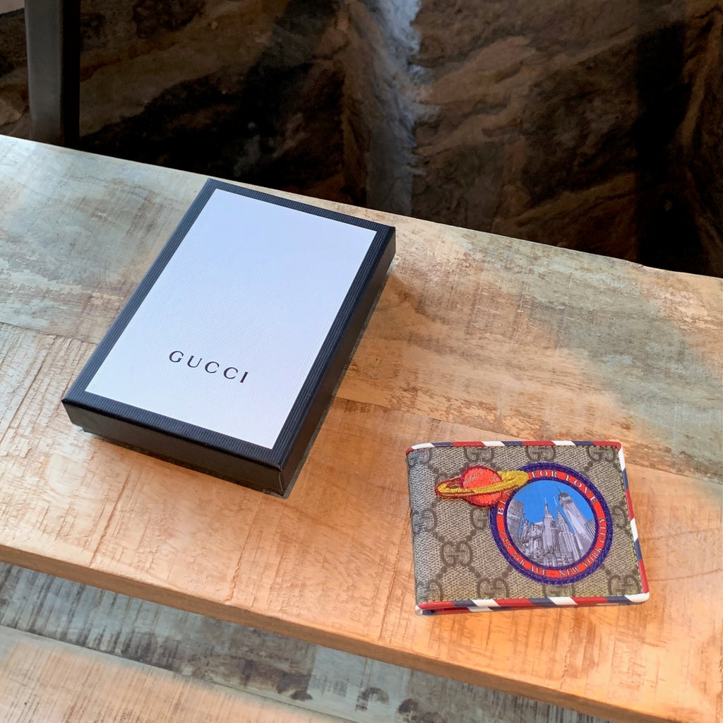 Gucci GG Supreme UFO NYC Patch Wallet