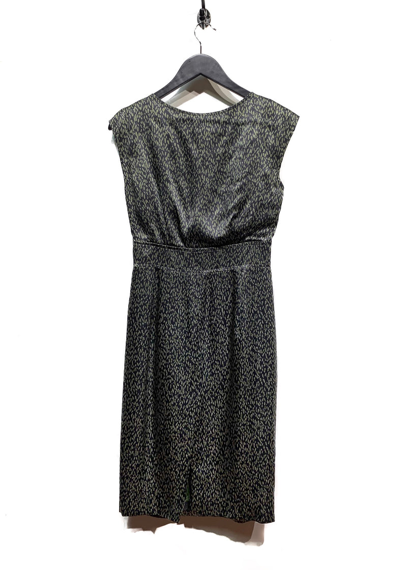 Paul Smith Green Leaf Patterns Sleeveless Dress