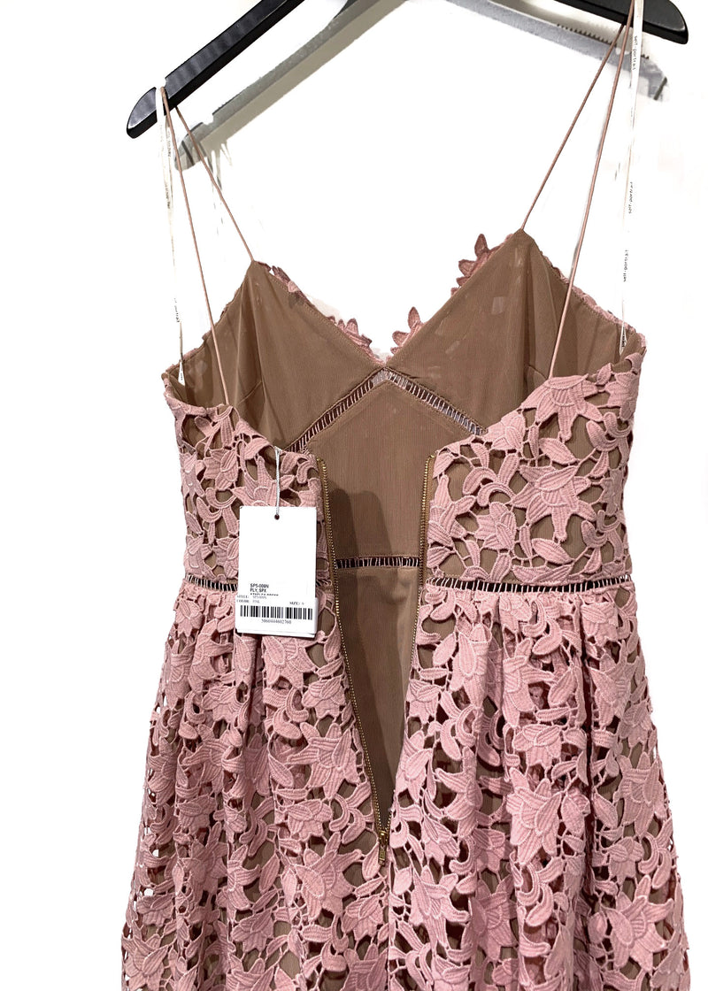 Self Portrait Blush Pink Lace Flower Azaelea Dress