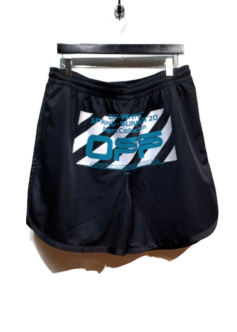 "Off-White Black Perforated ""Spring-Summer Collection"" Shorts"