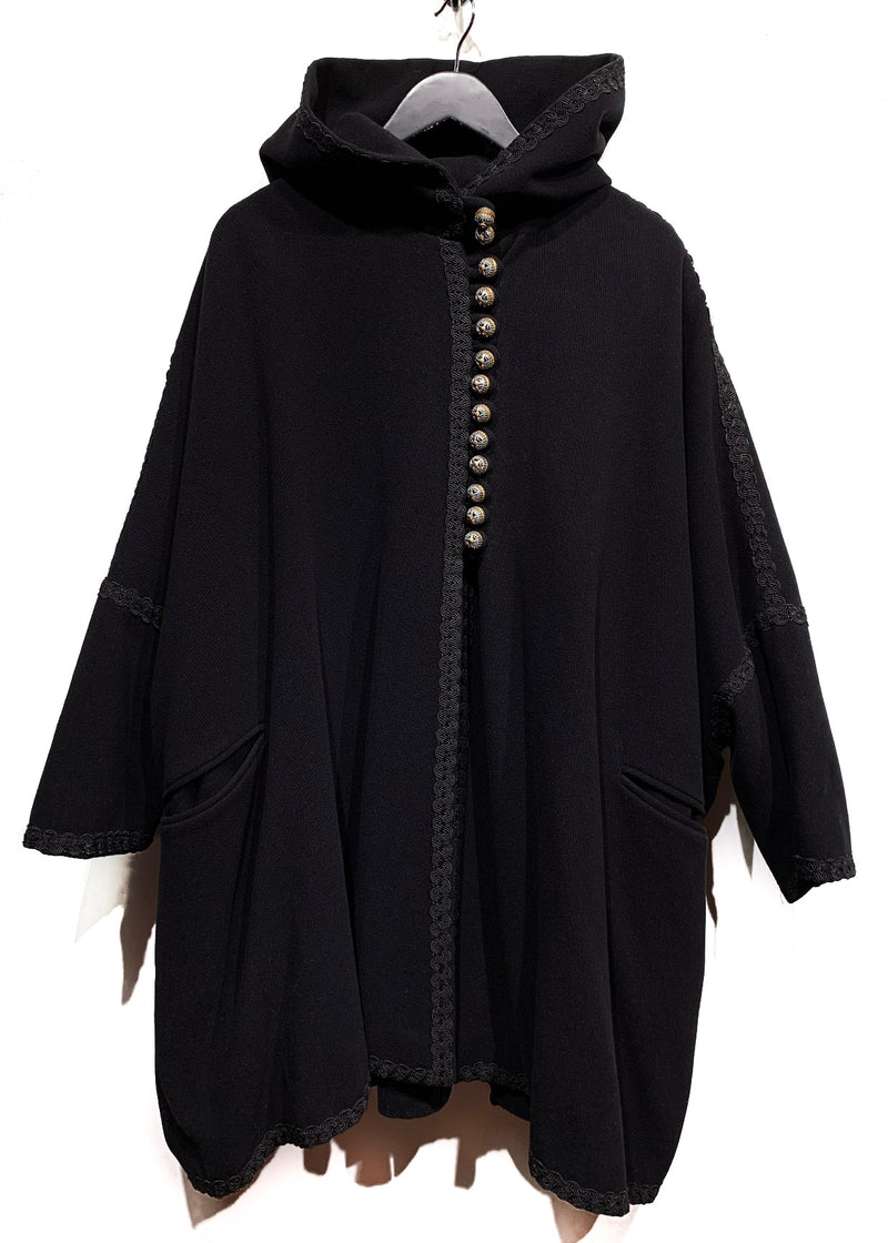 Dolce & Gabbana Black Wool Cape