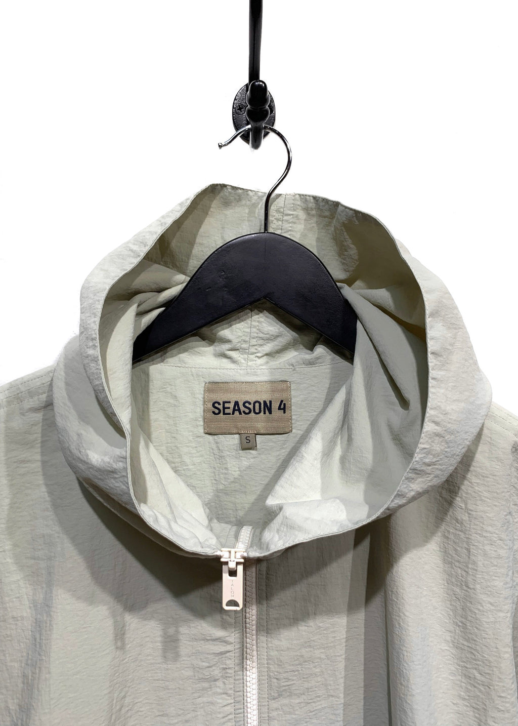 Yeezy Season 4 Beige Hooded Windbreaker Jacket
