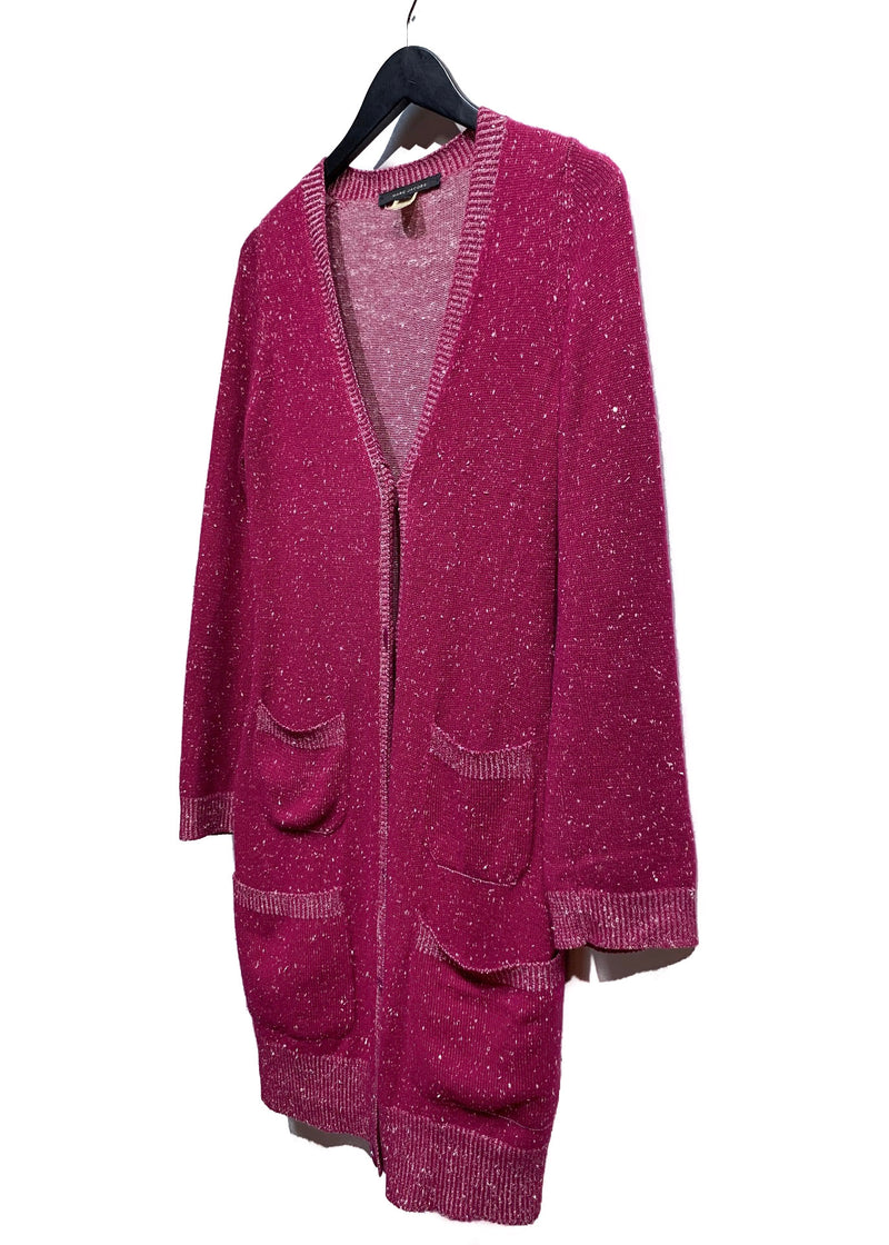Marc Jacobs Pink Cashmere Silk Long Cardigan