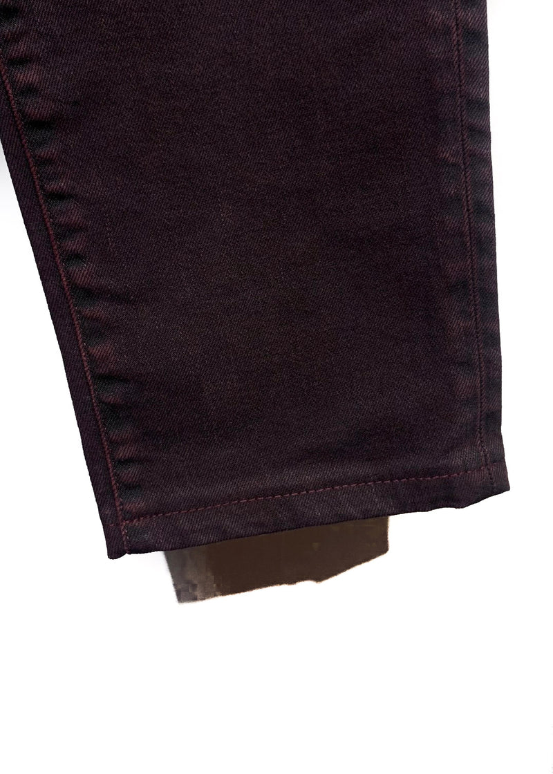 Dolce & Gabbana Black Burgundy Stretch Denim