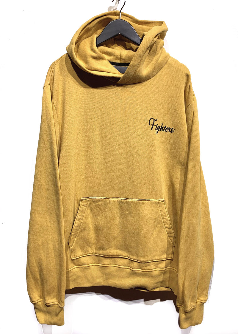 "Amiri Yellow Tiger Embroidered ""Fighters"" Hoodie"