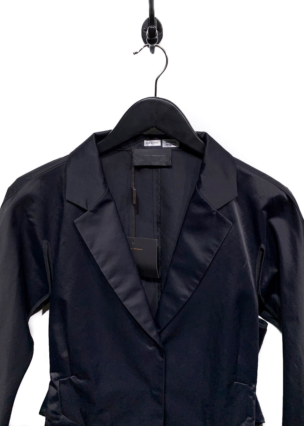 Narciso Rodriguez Black Cotton Blend Cut Out Blazer